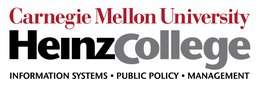 Logo of Carnegie Mellon University's Heinz College of Information Systems and Public Policy Management