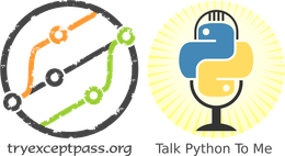 Logo of tryexceptpass & TalkPython